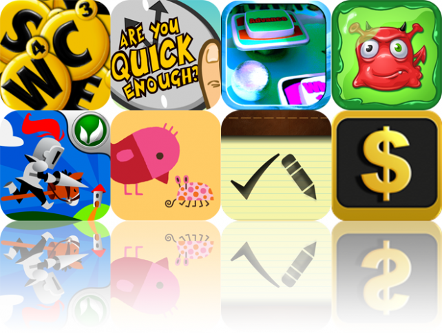 iOS Apps Gone Free: Word Chat, Are You Quick Enough?, Theme Park Pinball, And More