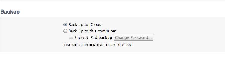 iTunes 10.5 Beta 8 - Backup Selection