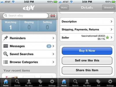 eBay Mobile For iPhone Supports More Checkout Options And Regions, Including eBay Bucks