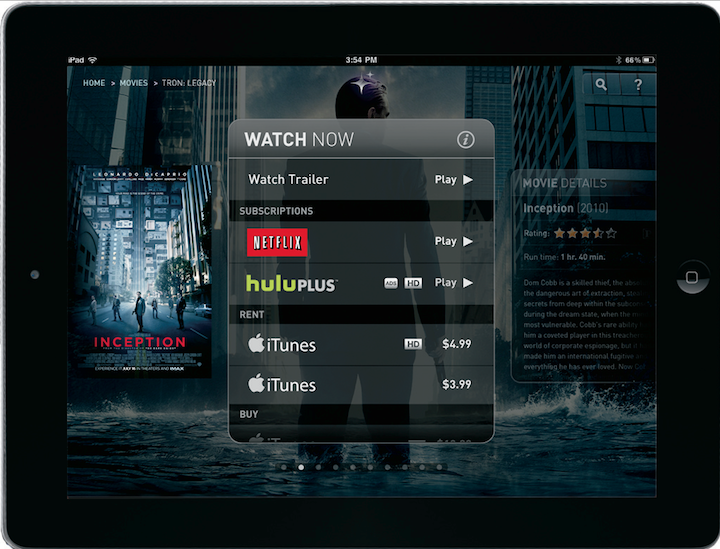 Fanhattan For iPad Goes Social, Adds VUDU Library To The Mix