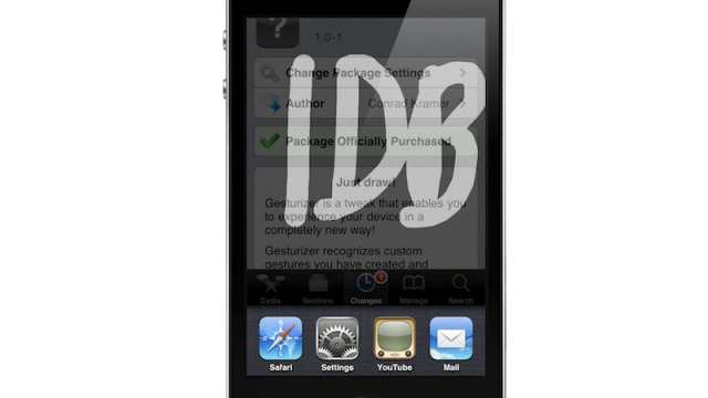 Gesturizer Adds Customized Gesturing To Your Jailbroken iDevice