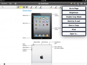 PDF Expert version 3.0 (iPad) - Actions Menu
