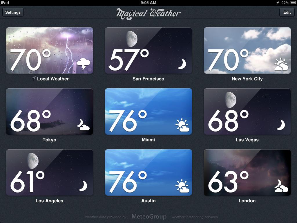 Magical Weather App Arrives On iPad