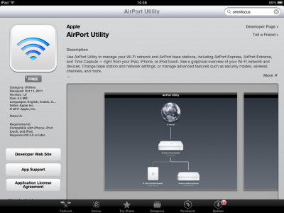 """Apple's """"AirPort Utility"""" Application Appears In App Store"""