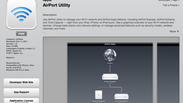 "Apple's ""AirPort Utility"" Application Appears In App Store"