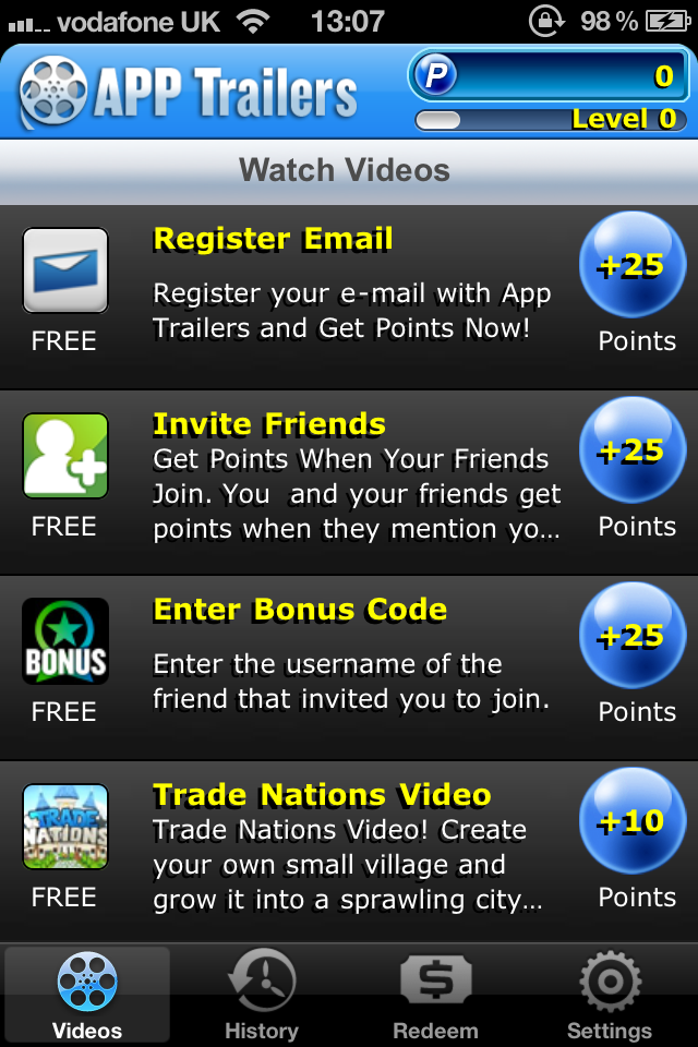 App Trailers - Watch App Videos And Get Rewarded With Gift Cards
