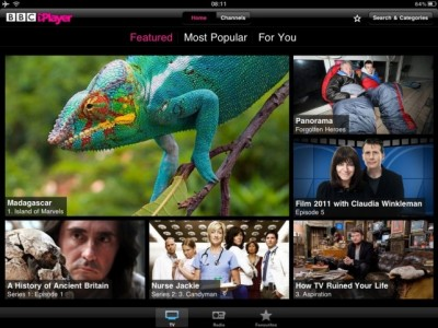 BBC iPlayer (Global) For iPad Updated - Now Supports AirPlay Streaming