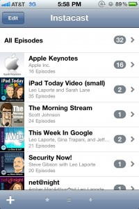 Instacast Updated - Podcasts Are Now Synced Between iOS Devices Via iCloud