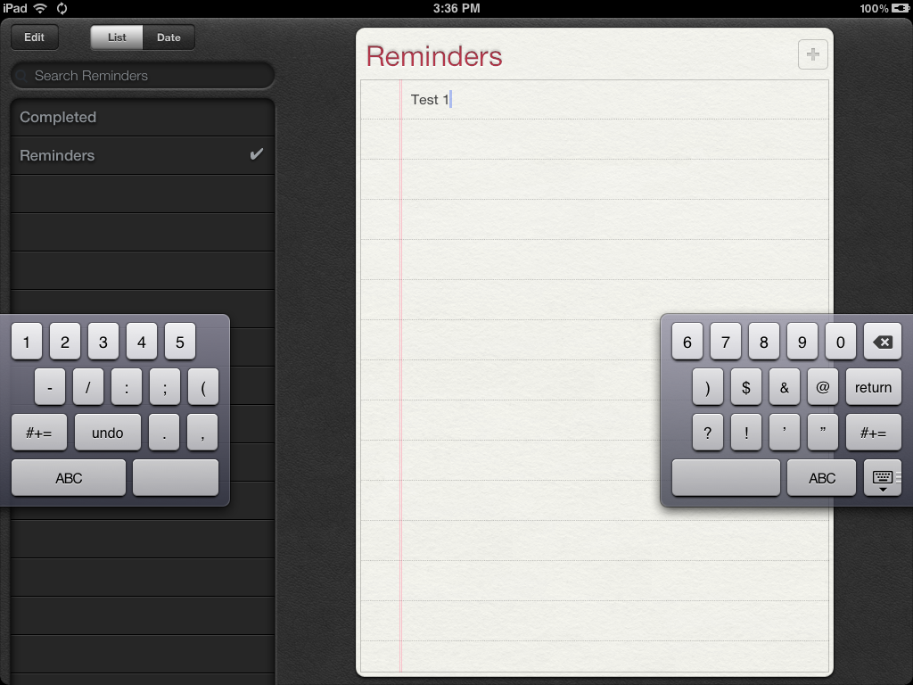 Did You Know The iPad Has An Awesome New Split Keyboard?