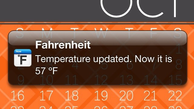 Fahrenheit and Celsius Take Full Advantage Of Notification Center - Plus, Win A Copy!