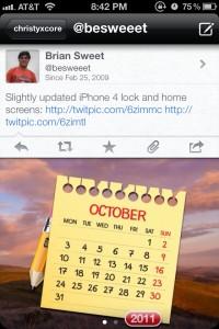 Twittelator Neue - Twitter Client for iOS5 by Big Stone Phone screenshot