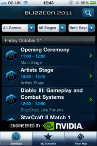 BlizzCon 2011 Guide by Blizzard Entertainment screenshot