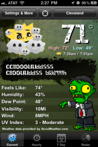 Weather Zombie by Lycos, Inc. screenshot