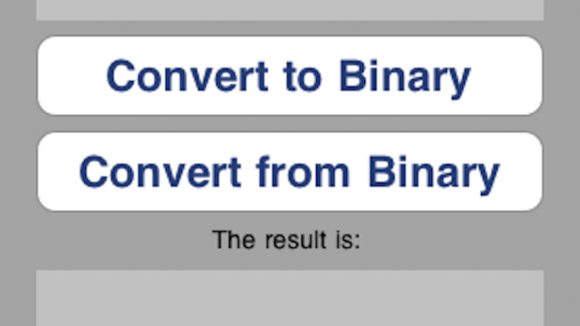 Quirky App Of The Day: Binarize-Binary Converter