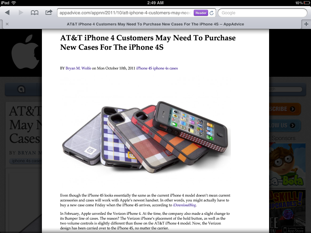 How To: iOS 5 Safari Reader And Reading List