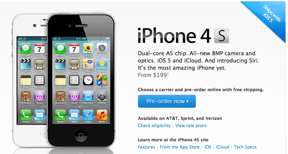Go Get It! - Preorders For Apple's iPhone 4S Now Live [Updated]