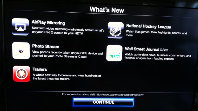 Apple TV 4.4 Update Adds AirPlay Mirroring, Photo Stream, Trailers, NHL And WSJ Live