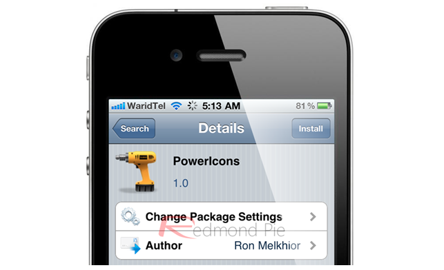 Jailbreak Only: PowerIcons - Adds Four Power Icons To Your Jailbroken iPhone's SpringBoard