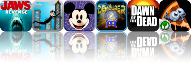 iOS Apps Gone Free: Jaws Revenge, Rope'N'Fly, Mickey's Spooky Night Puzzle Book, And More