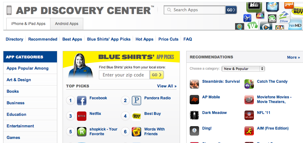 Best Buy Launching App Search Service