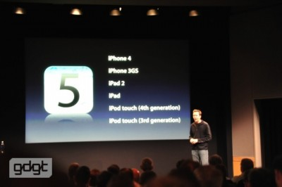 Apple Talks iOS 5 At iPhone Event - Announces October 12 Launch Date