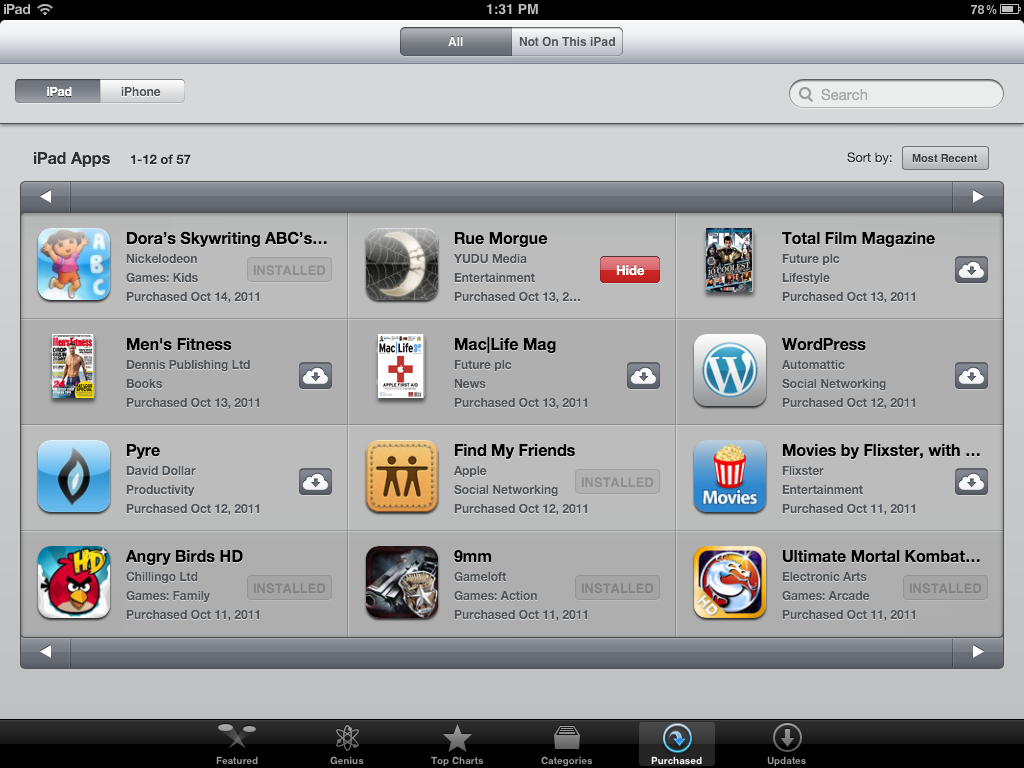 How-To: Hiding Previous App Store Purchases