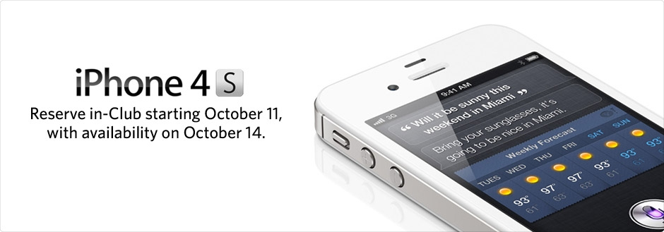 Sam's Club Offering iPhone 4S Preorders Now For Friday Pickup