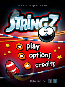 Uncut The Rope And Help Z Get Back To His Spaceship In StringZ-HD