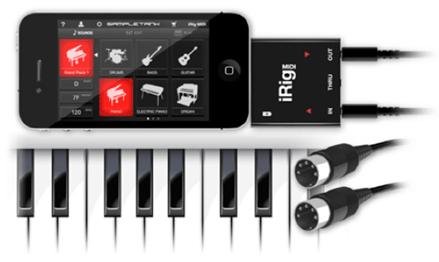 IK Multimedia's iRig MIDI Hardware Adapter And SampleTank iOS App Are Now Available