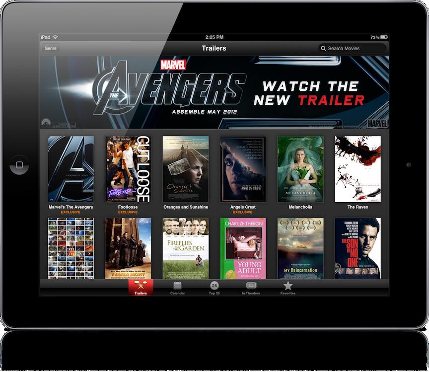 Apple's New iTunes Movie Trailers App Arrives