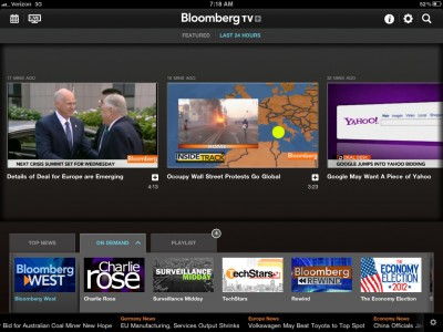 Bloomberg Joins Live News App Party