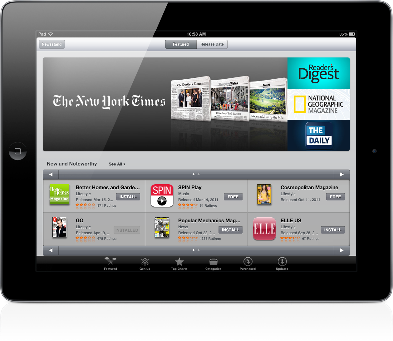 Apple's Newsstand Arrives