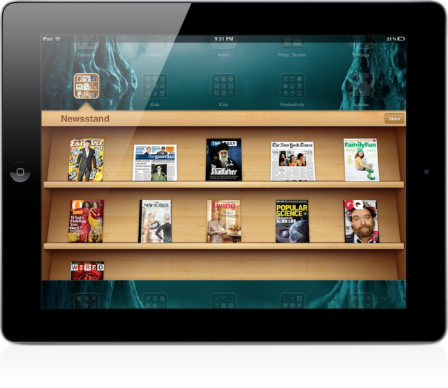 Additional Titles Added To Newsstand, Including The New York Times and The Guardian iPad Edition