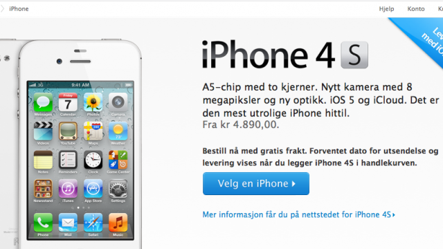 Apple Begins Accepting iPhone 4S Preorders In 22 Countries