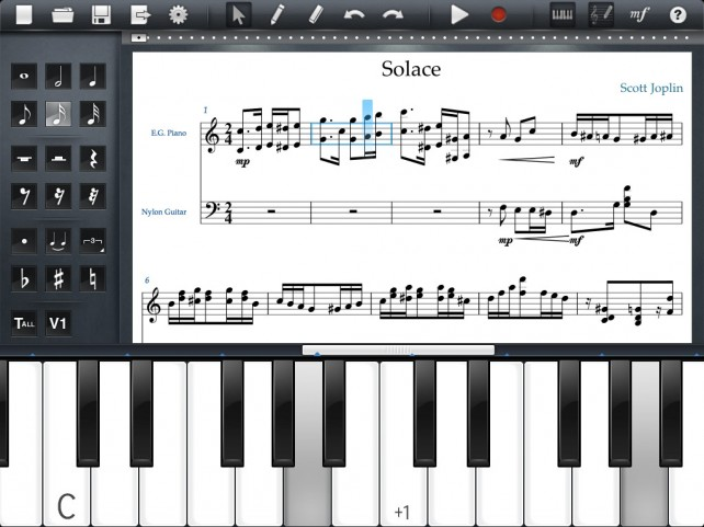 Never Lose A Musical Composition Again, Save It To Your iPad
