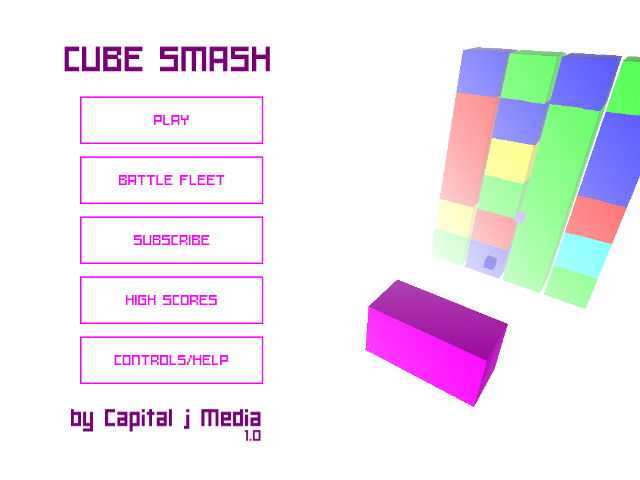 Cube Smash, A 3-D Arcade Shooter Without The Noise