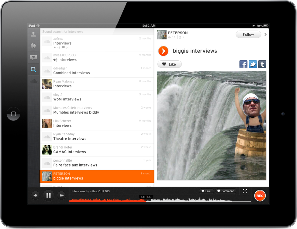 SoundCloud Available Now On iPad