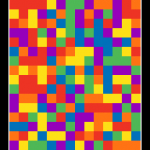 Change The Colors As You Grow The Square In Pixelated Plus Color Puzzle - Plus A Chance To Win!!