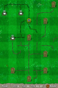 These Angry Sunflowers Have Mischief On Their Minds As They Aim To Reach Tombstones In Zombie World