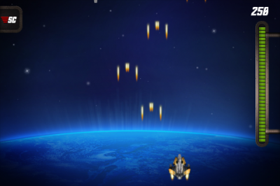 Shoot And Ram Enemy Ships To Keep Them From Passing You In Space Commander