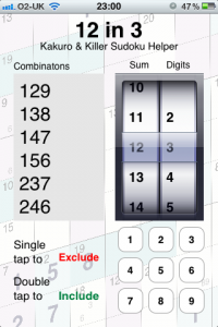 Obtain A List Of Digits That Add Up To A Specific Number As You Solve Sudoku Puzzles With The Help Of 12 In 3