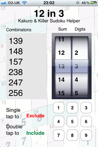 Obtain A List Of Digits That Add Up To A Specific Number As