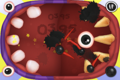 Avoid Going Splat As You Jump From One Tooth To Another In Avoid-A-Ball