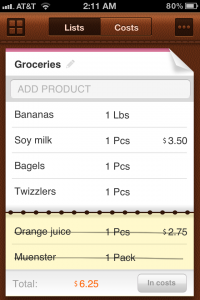 Organize Your Shopping Lists And Track Your Spending With Grocery Mate - Easy to Use Shopping List