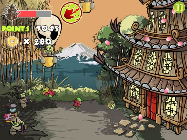 Fight Your Way Though Hordes Of Zombies In Zombie Samurai HD