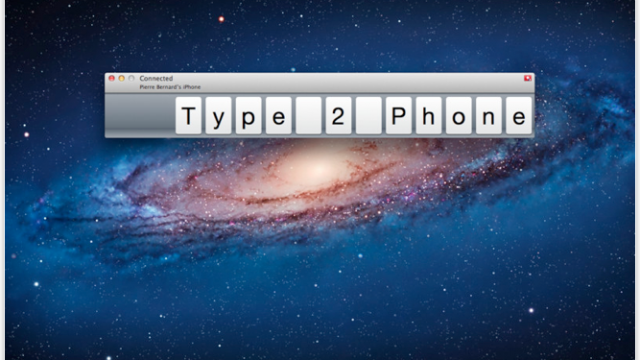 Type2Phone - Type Out Text For Your iPhone On A Mac