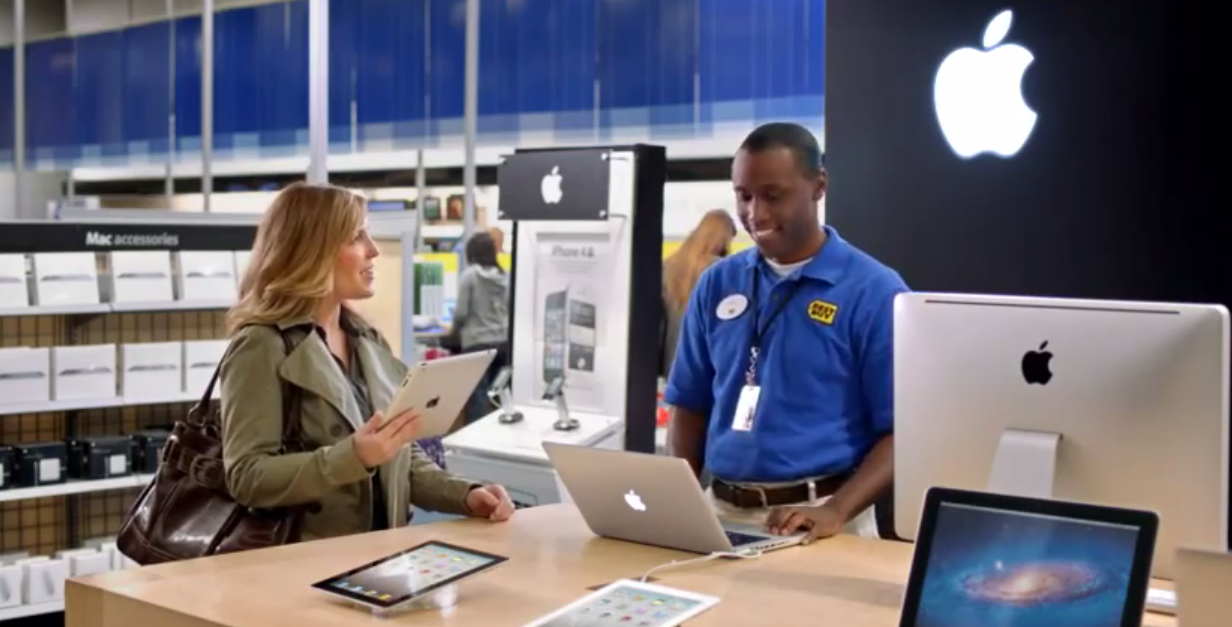 Best Buy Does An Apple Products Ad, Tells Santa To Watch His Back
