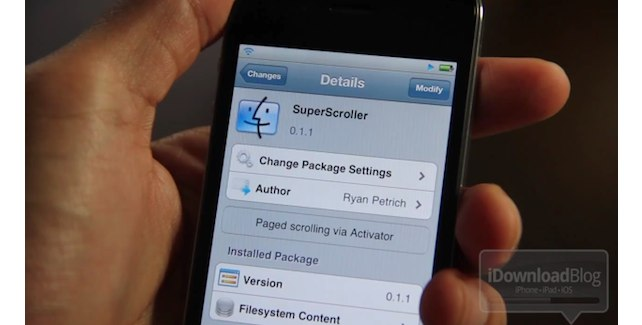 Jailbreak Only: SuperScroller - Easily Scroll Up And Down With An Activator Action