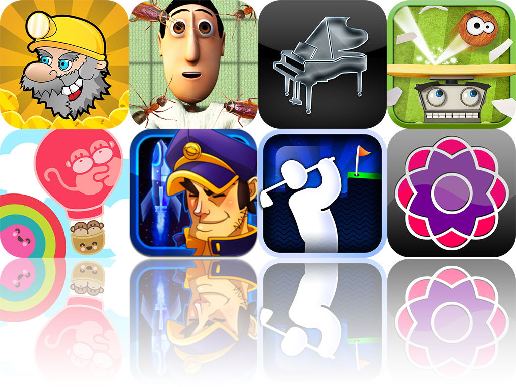 iOS Apps Gone Free: Kevin's Break'em, Super Stickman Golf, Shapemix, And More