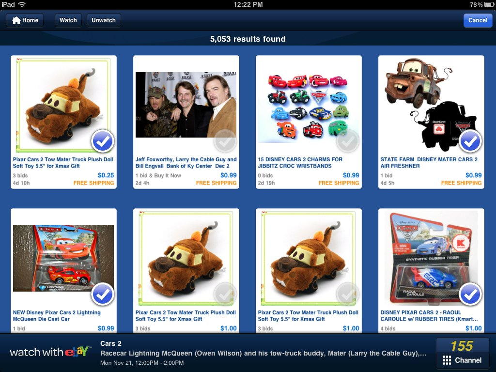 """Watch With eBay"" Is A New iPad App Feature Focused On TV Show And Movie-Related Items"